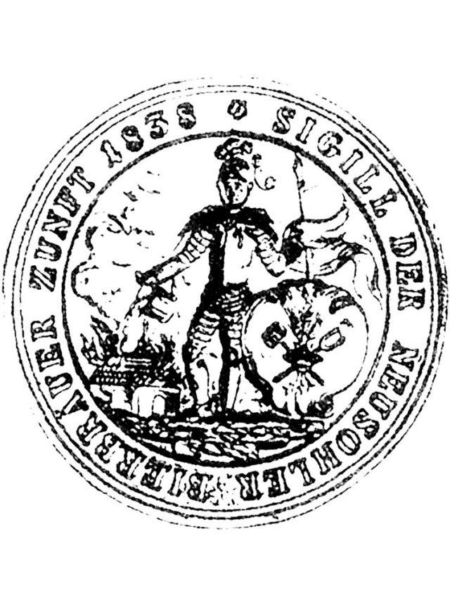 pečatidlo banskobystrického cechu pivovarníkov zroku 1838